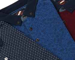 Suitable polo print kraag